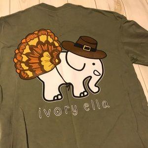 Thanksgiving Ivory Ella 🐘 Long Sleeved Tee Shirt